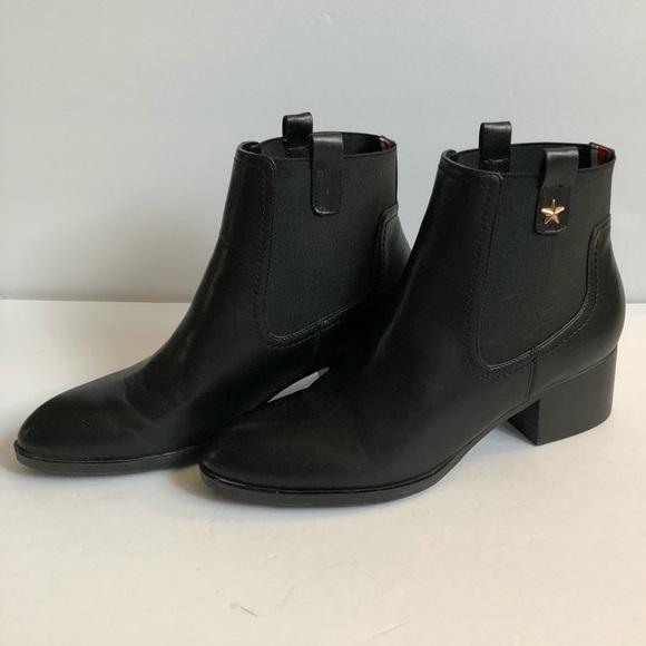 5cfe20e0 Tommy Hilfiger Roxy Black booties block heel. M_5a688cf62c705d229936252c